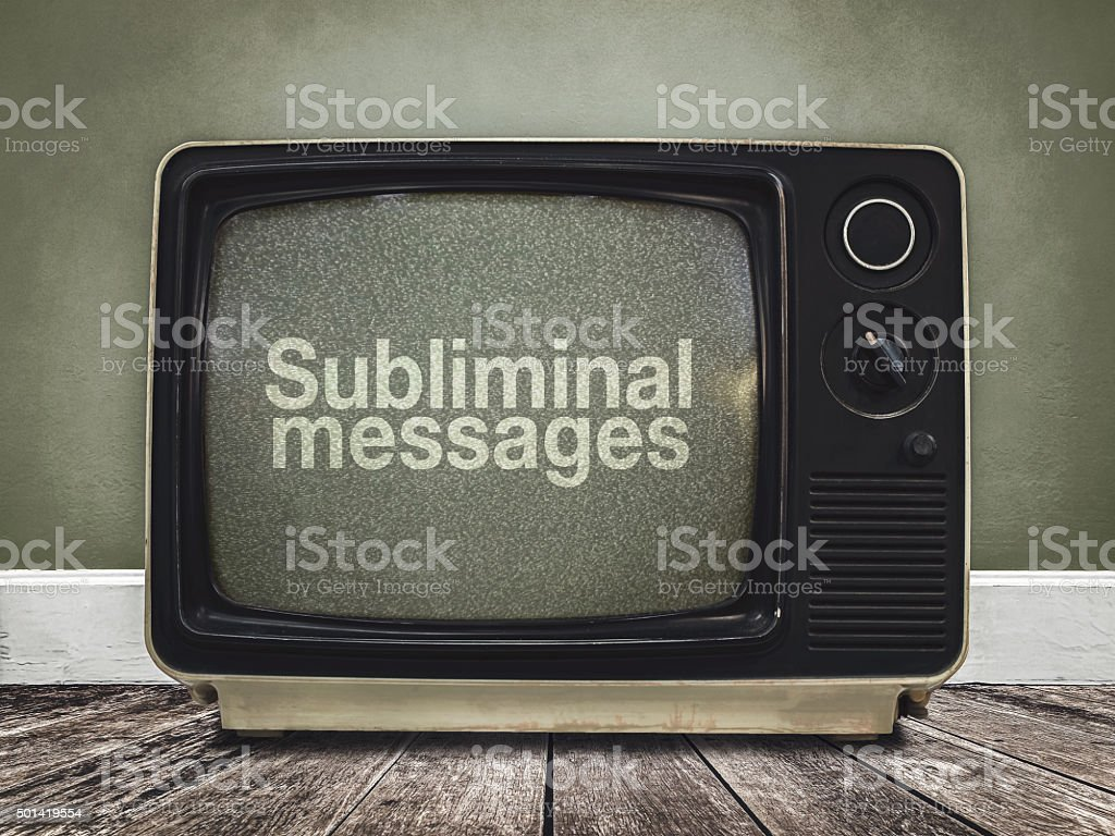 subliminal messages stock photo