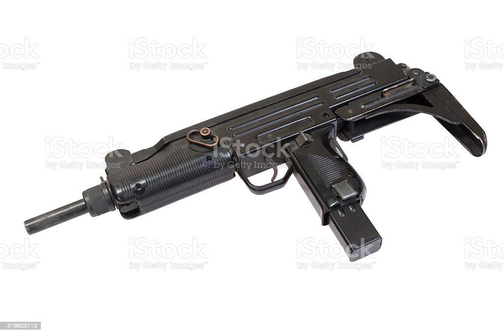 UZI submachine gun isolated on white stock photo
