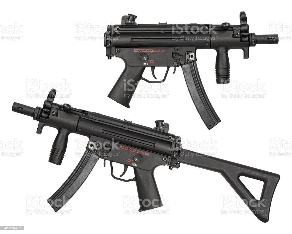 Submachine Guns - isolated stock photo