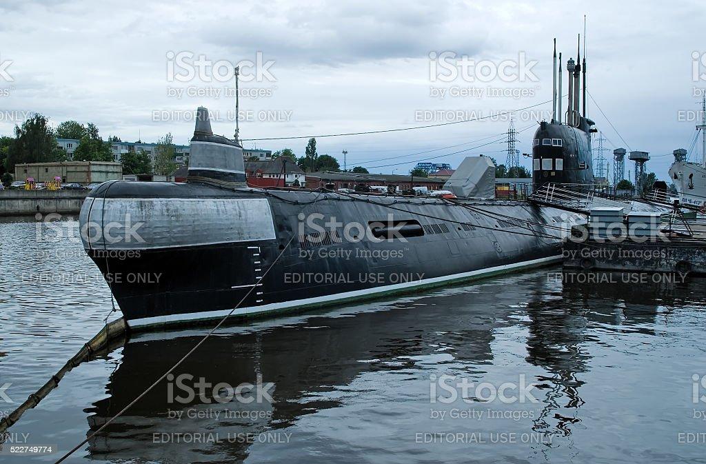 submarine B-413 in Kaliningrad. Russia stock photo