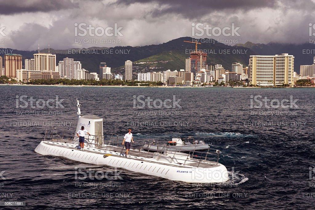 Submarine crew on the submarine stock photo