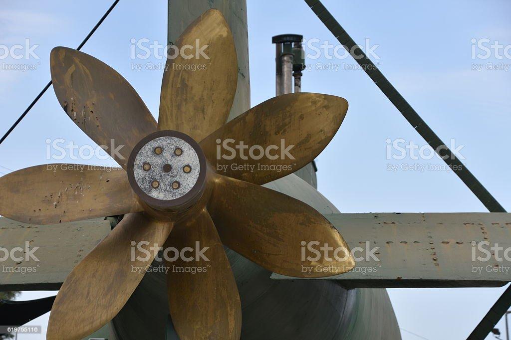 Submarine Propeller stock photo