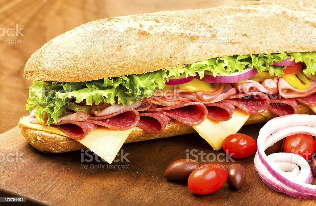 Submarine Sandwich royalty-free stock photo
