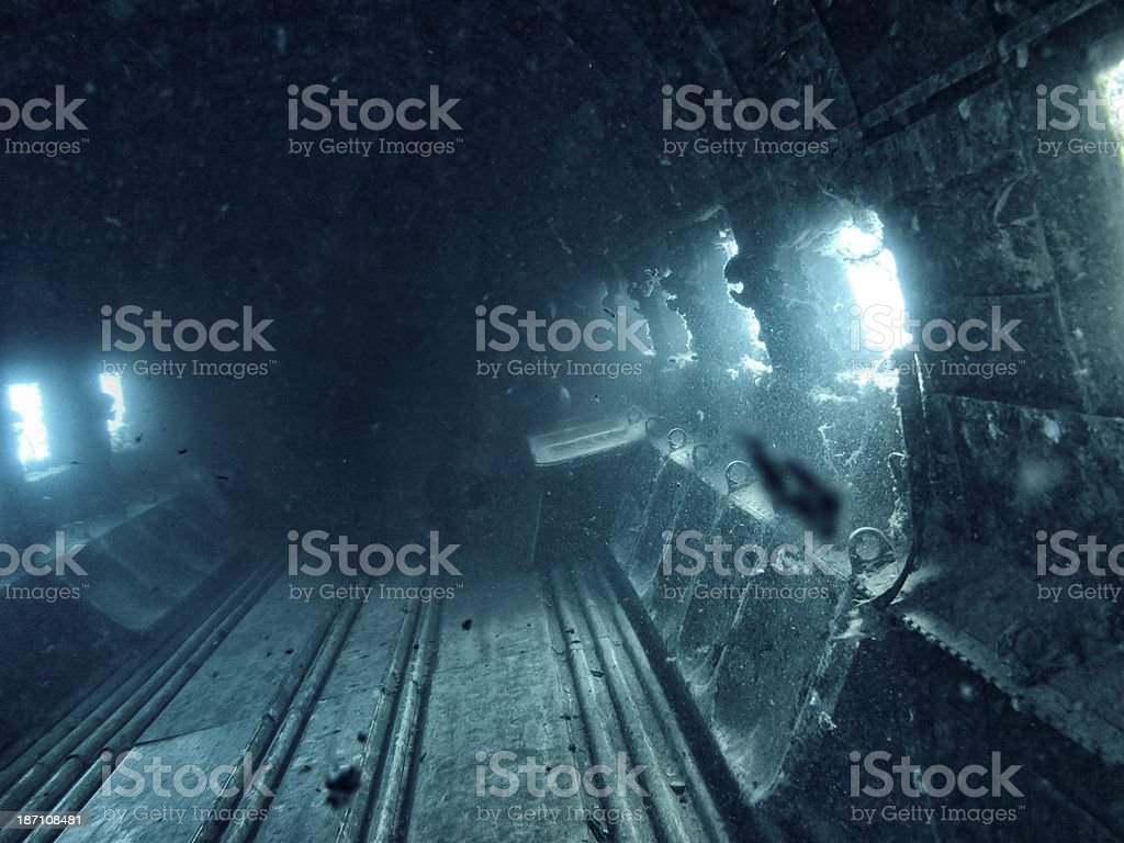 Submerged And Ruined Wreck royalty-free stock photo