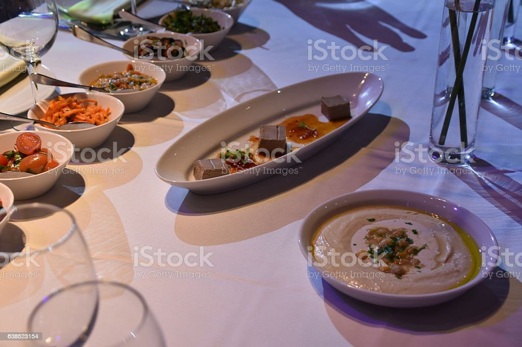 Submission salads in  event stock photo