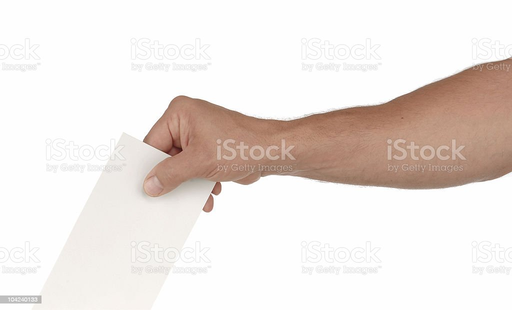 Submitting a Vote stock photo