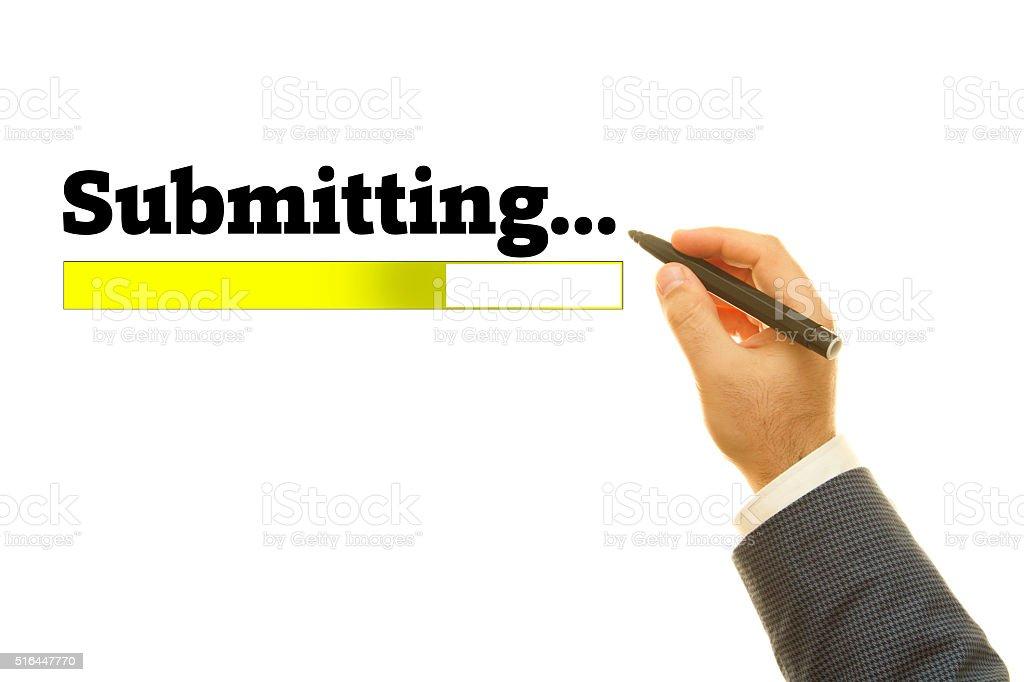 Submitting. stock photo