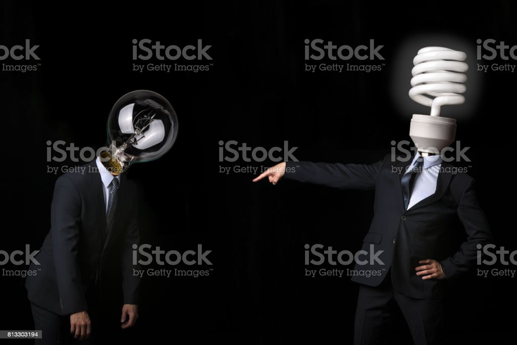Subordination of technology. stock photo