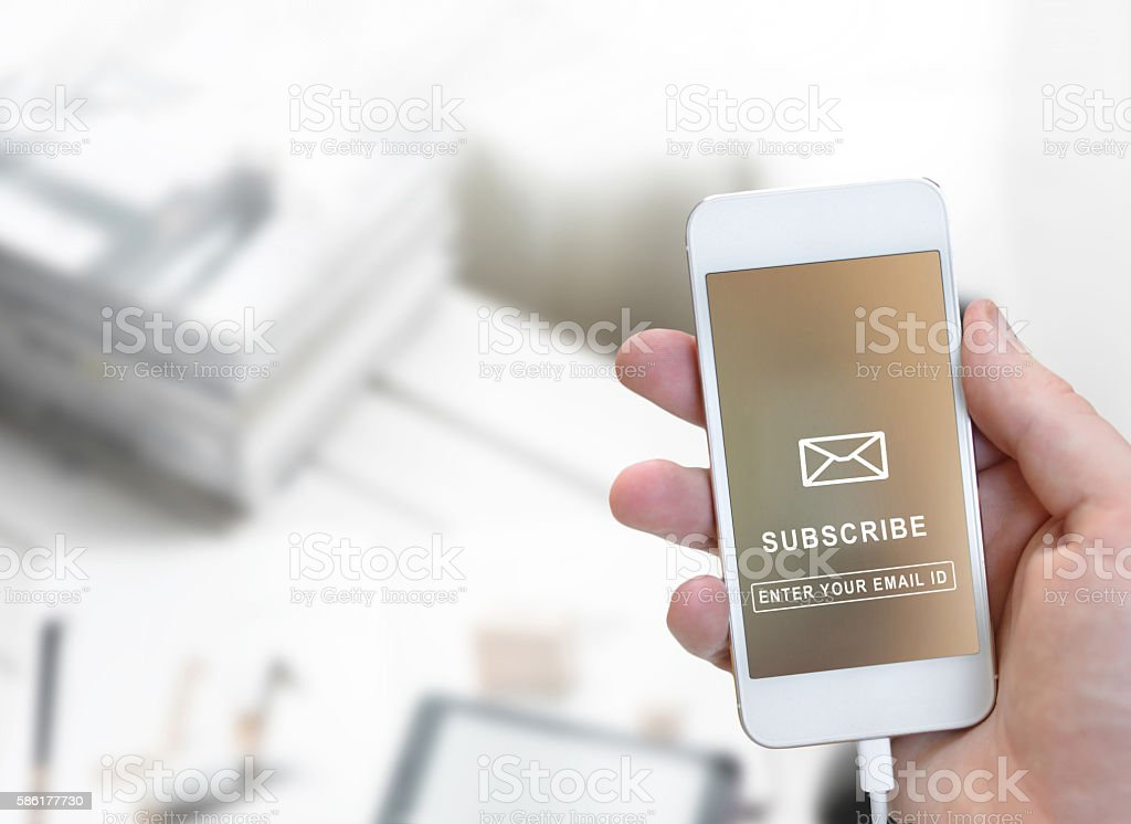 Subscribe  Marketing Concept stock photo