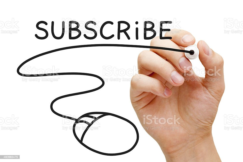Subscribe Mouse Concept stock photo