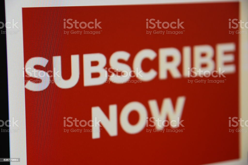 subscribe now Sign stock photo