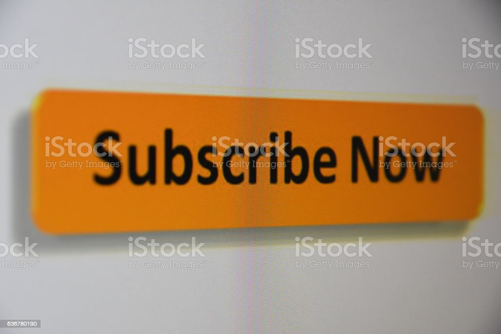 subscribe Sign stock photo