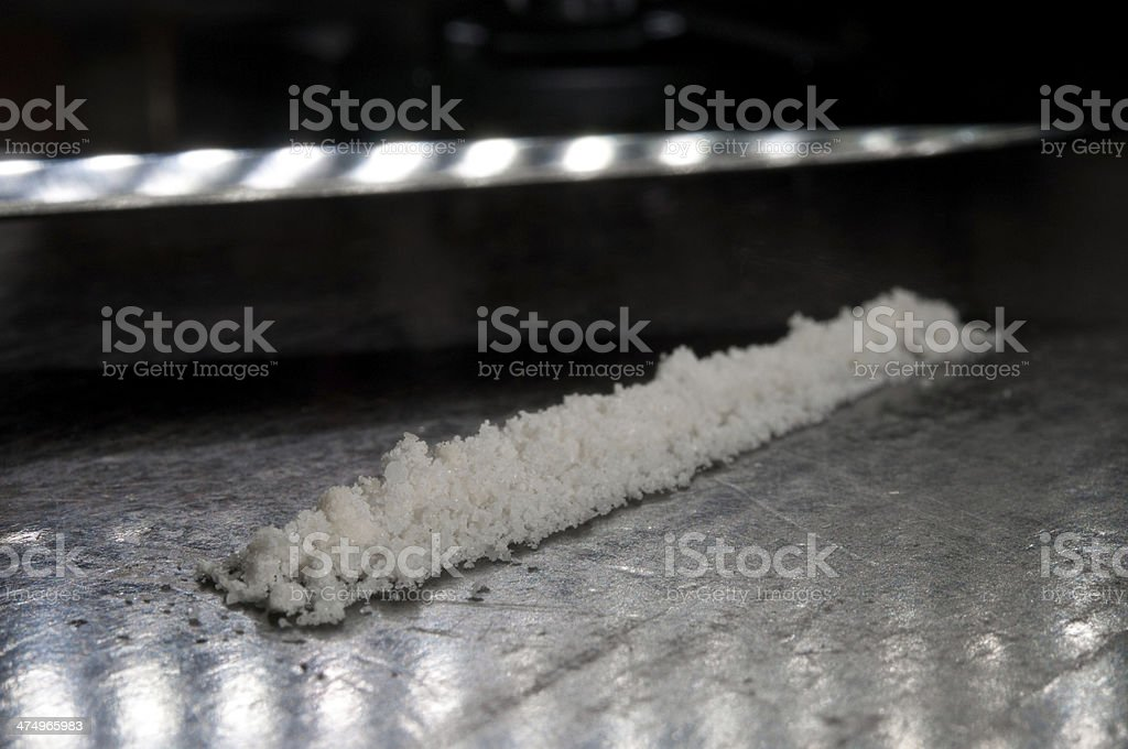 Substance white and blade stock photo