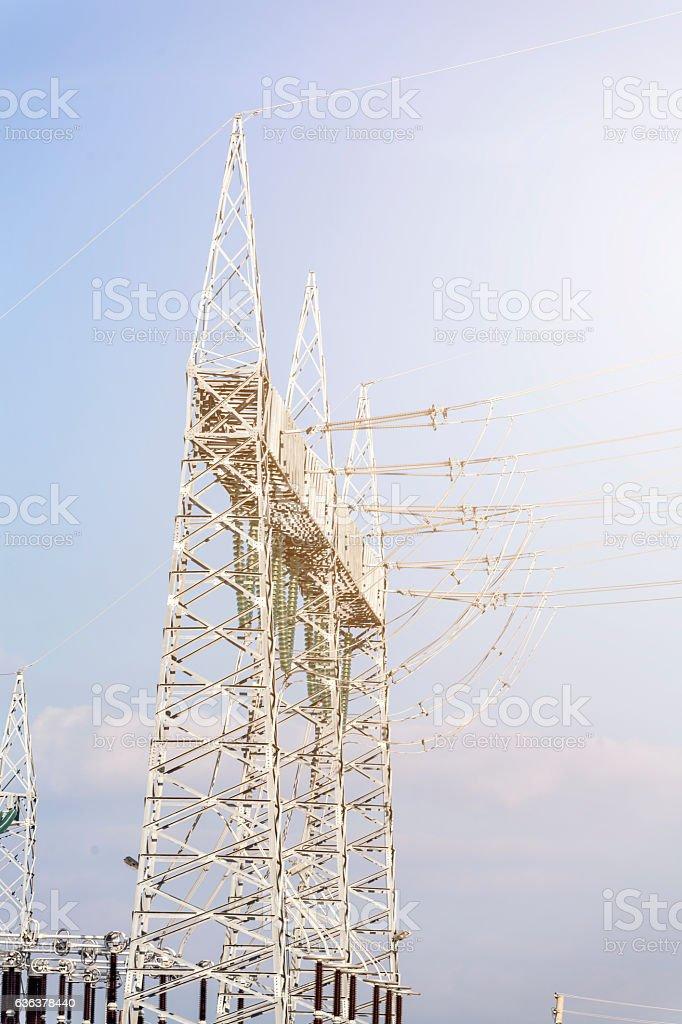 Substation stock photo