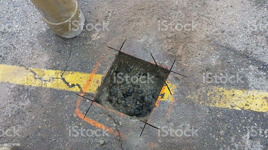 Subsurface Utility Engineering stock photo