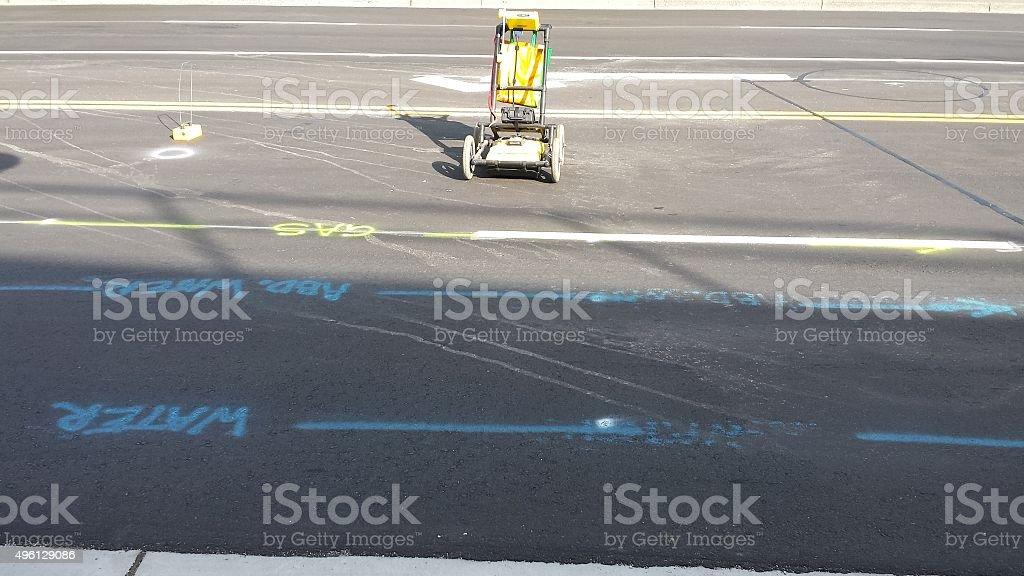 Sub-surface utility locate equipment stock photo