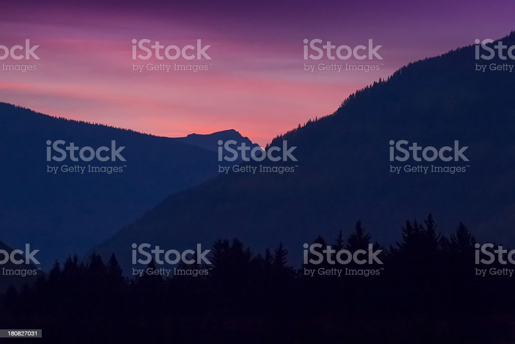 Subtle Tone Of An Early Mountain Sunrise In Vail Colorado royalty-free stock photo