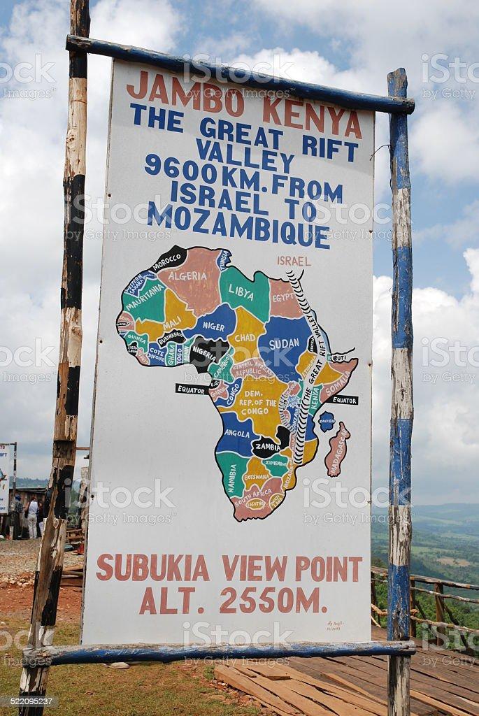 Subukia View Point Sign royalty-free stock photo
