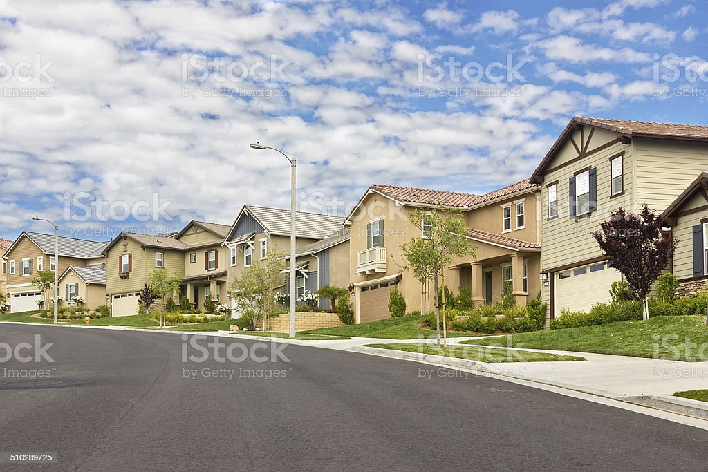 Suburb Homes stock photo