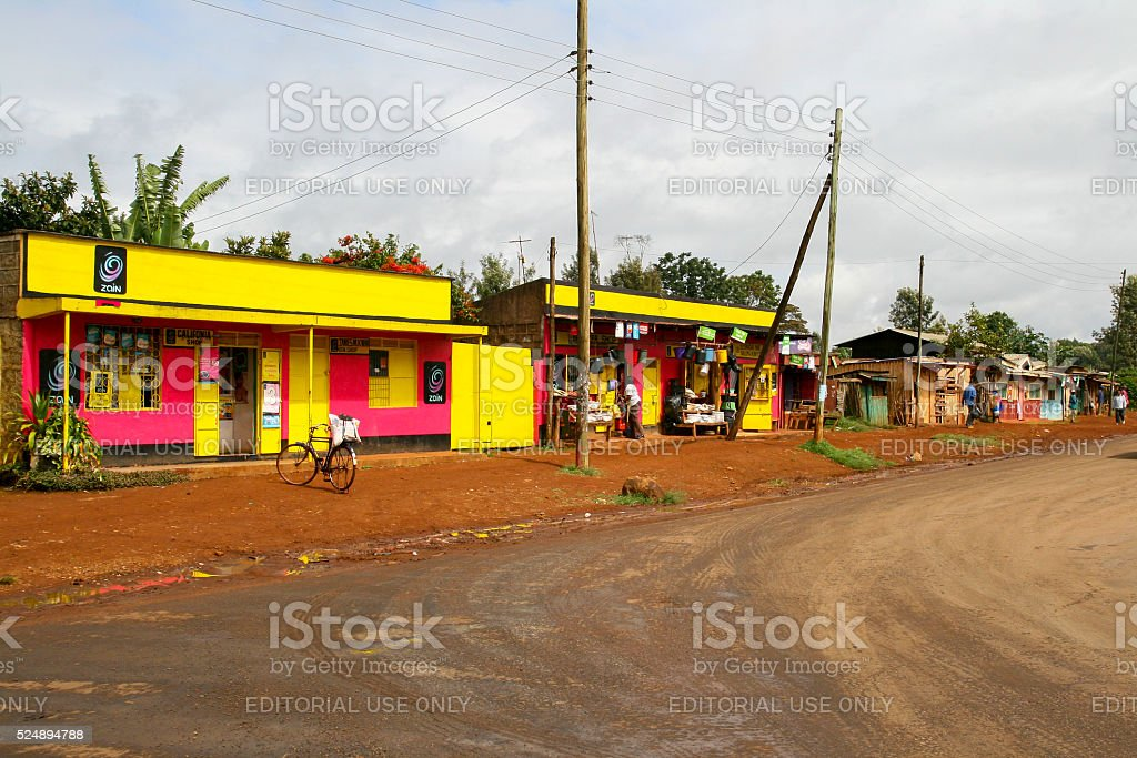 Suburb in Nairobi, Kenya stock photo