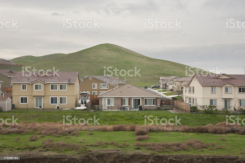 Suburb in the Hills royalty-free stock photo