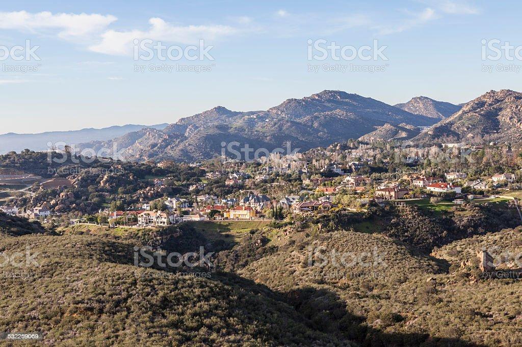 Suburb Mountain Mansions stock photo