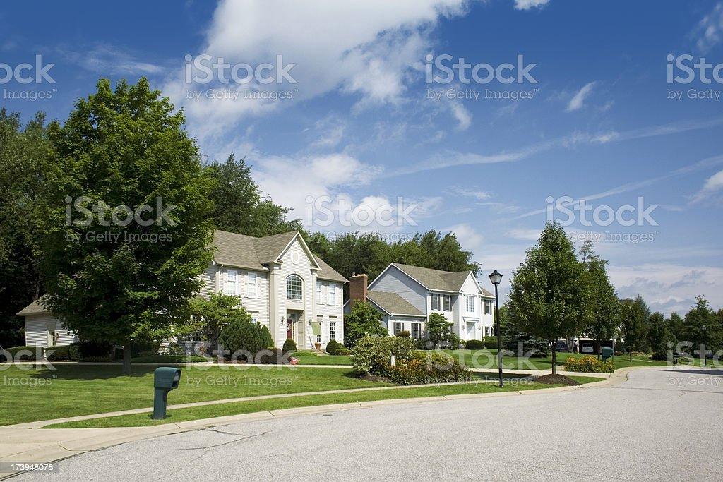 Suburb royalty-free stock photo