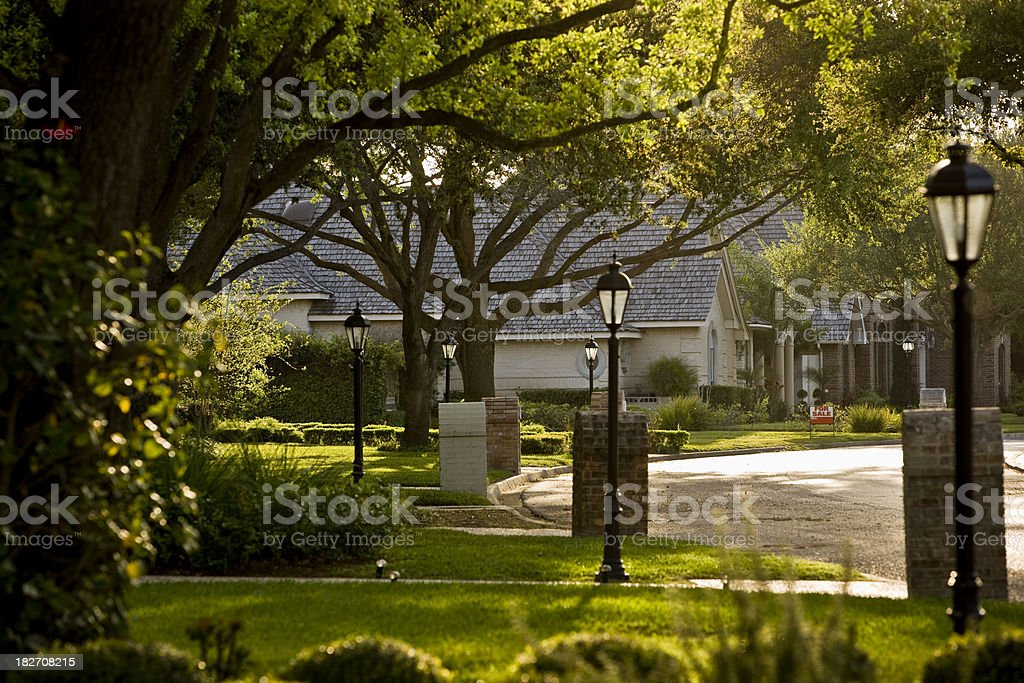 Suburb stock photo