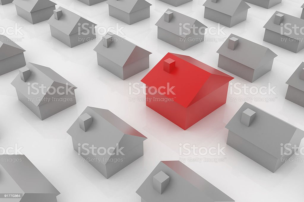 Suburb Search royalty-free stock photo