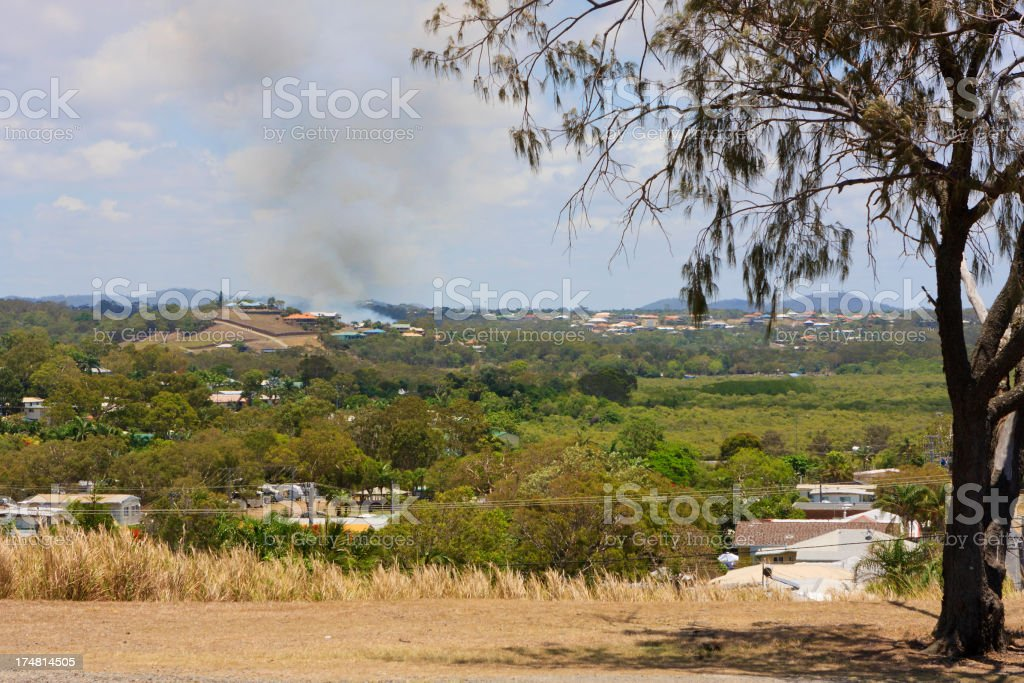 Suburb with Smoke royalty-free stock photo
