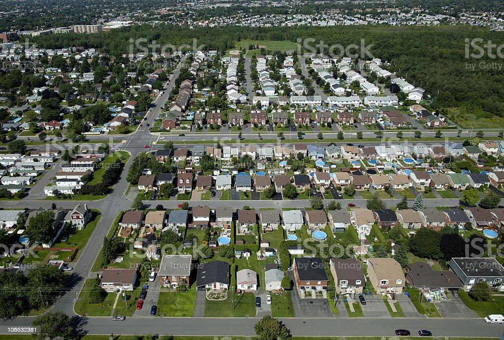Suburban Aerial stock photo