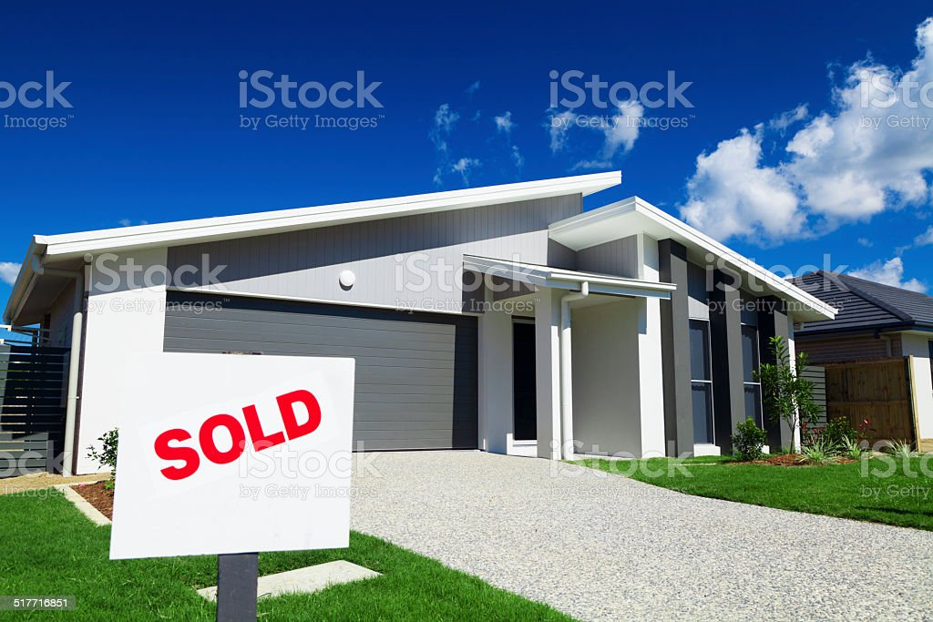 Suburban Australian House stock photo