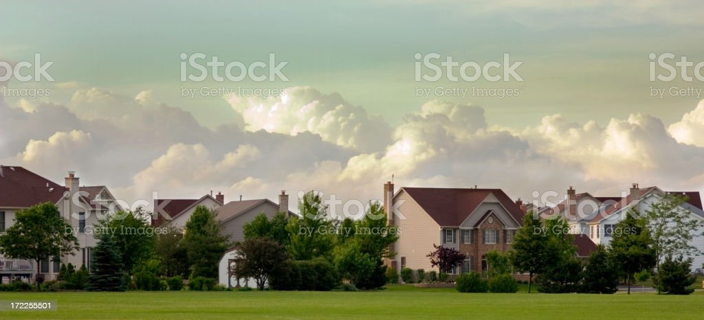 suburban cloudscape royalty-free stock photo
