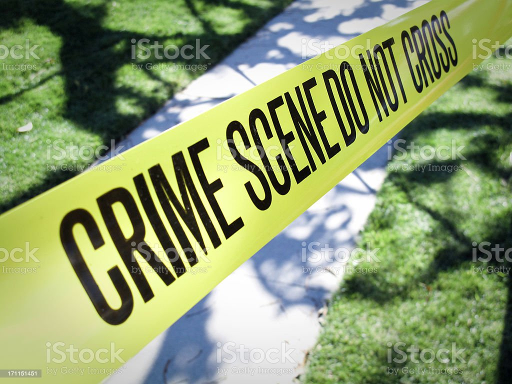 Suburban Crime Scene stock photo