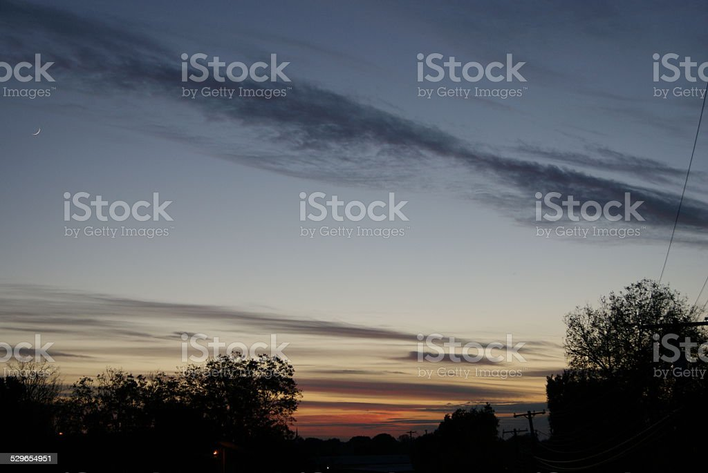 Suburban Dusk royalty-free stock photo