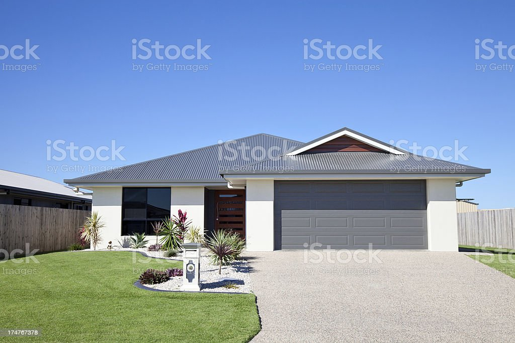 Suburban Family Home stock photo