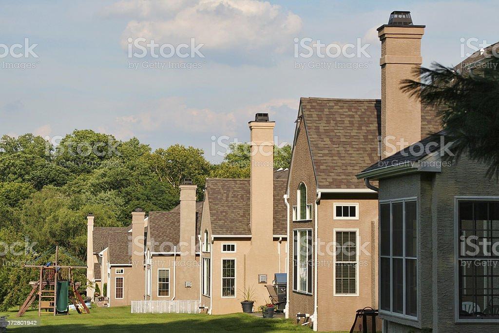 Suburban family houses royalty-free stock photo