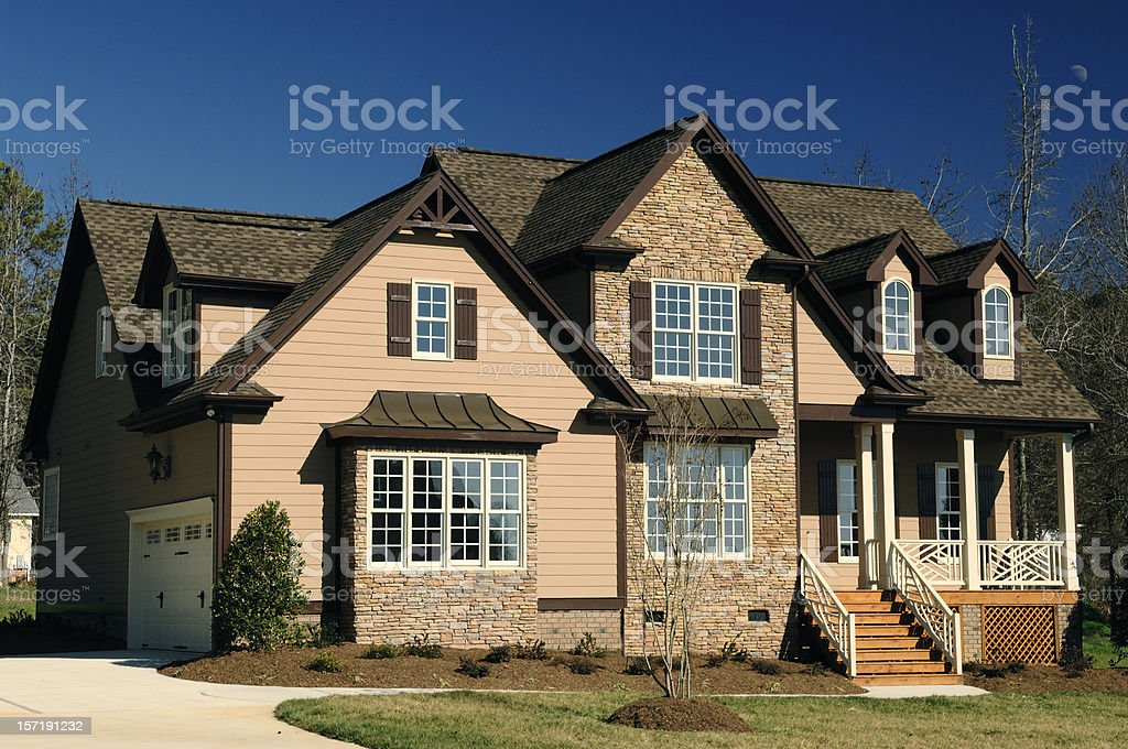 Suburban Front royalty-free stock photo