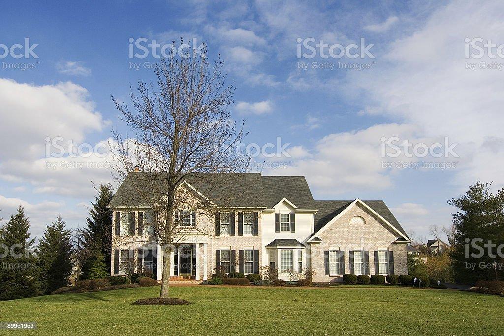Suburban home 01 royalty-free stock photo