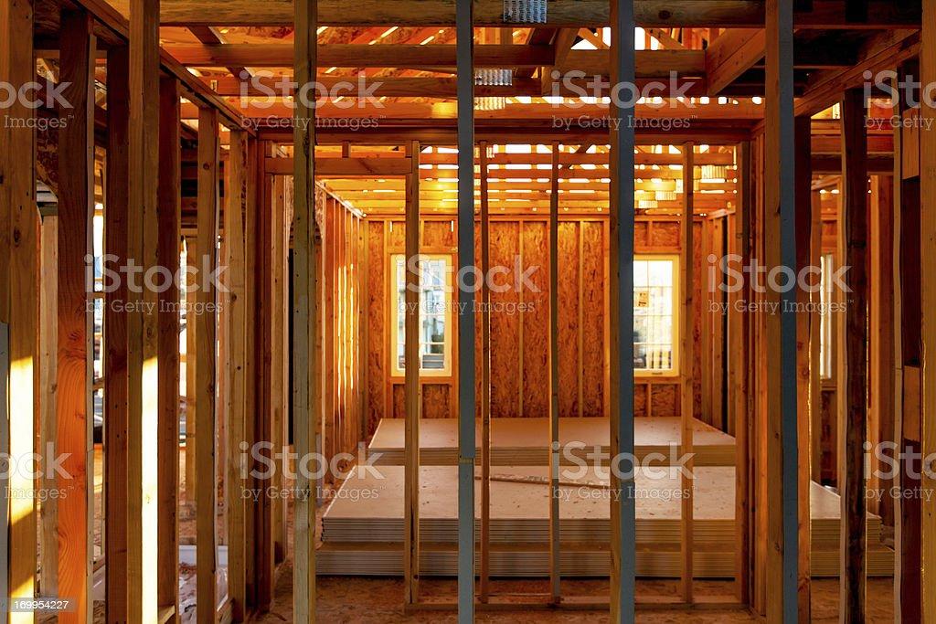 Suburban Home Construction Interior stock photo