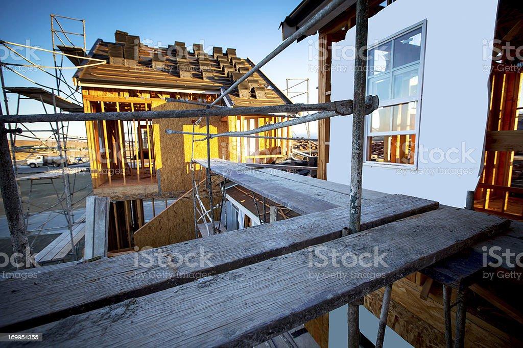 Suburban Home Construction stock photo