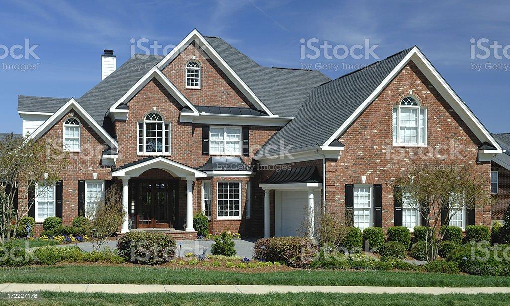 Suburban Home Extrerior royalty-free stock photo