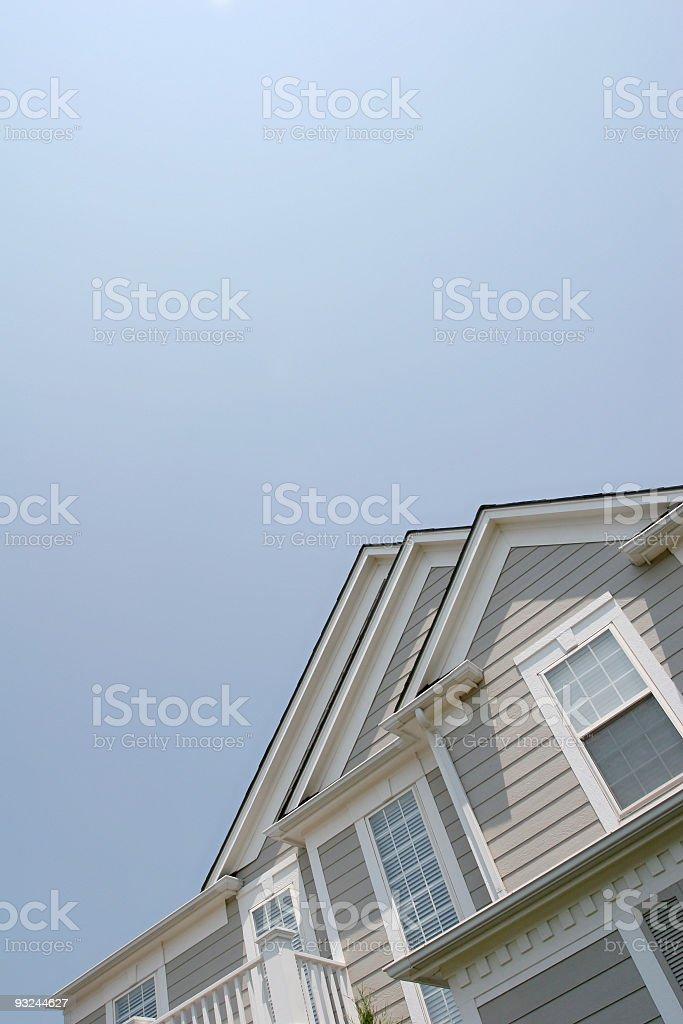 suburban home front stock photo