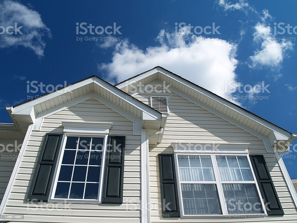 Suburban Home stock photo