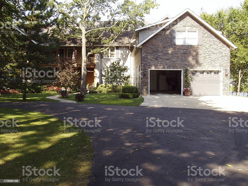 Suburban Home - Real Estate royalty-free stock photo
