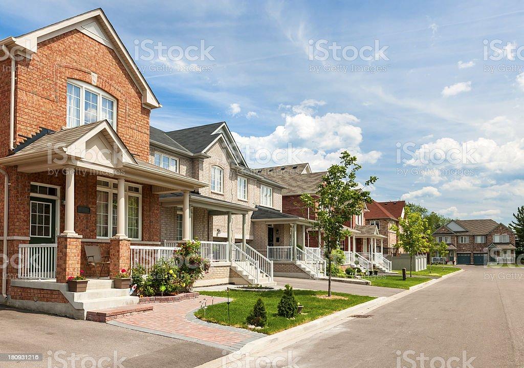Suburban homes royalty-free stock photo