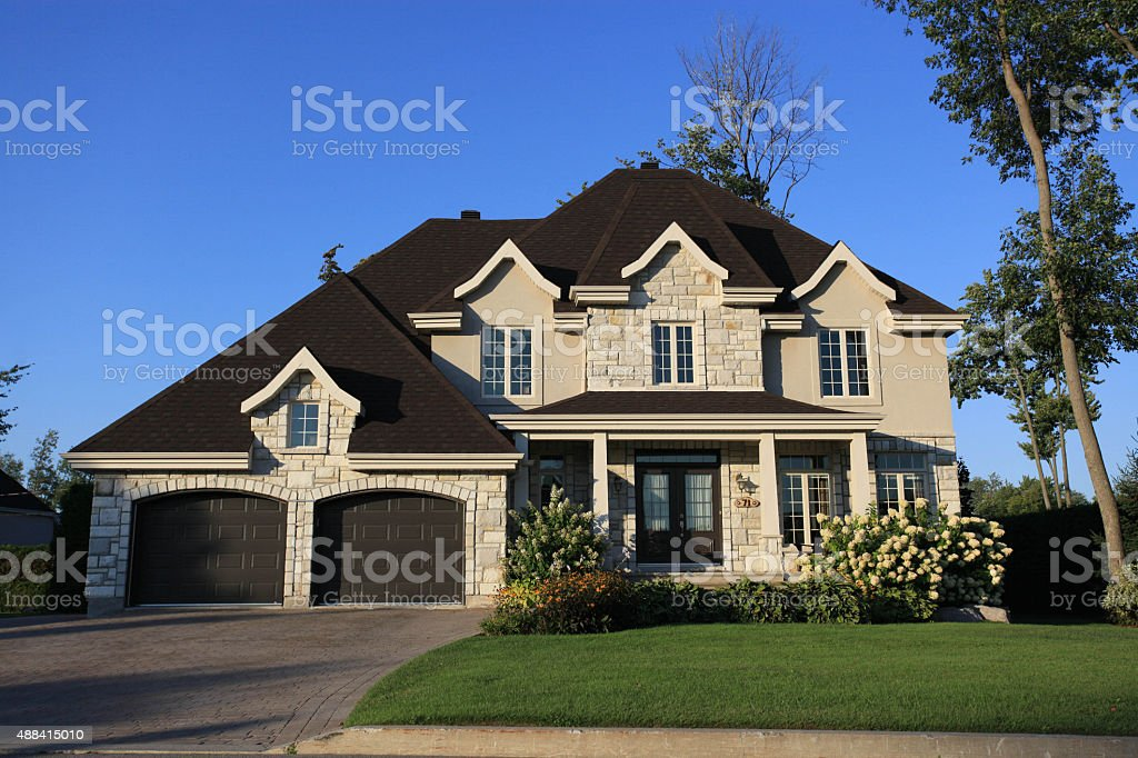 Suburban house stock photo