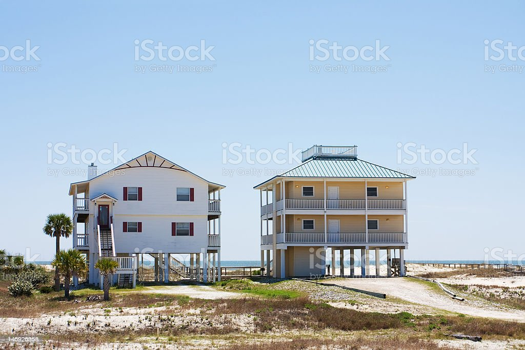 Suburban houses in Florida royalty-free stock photo