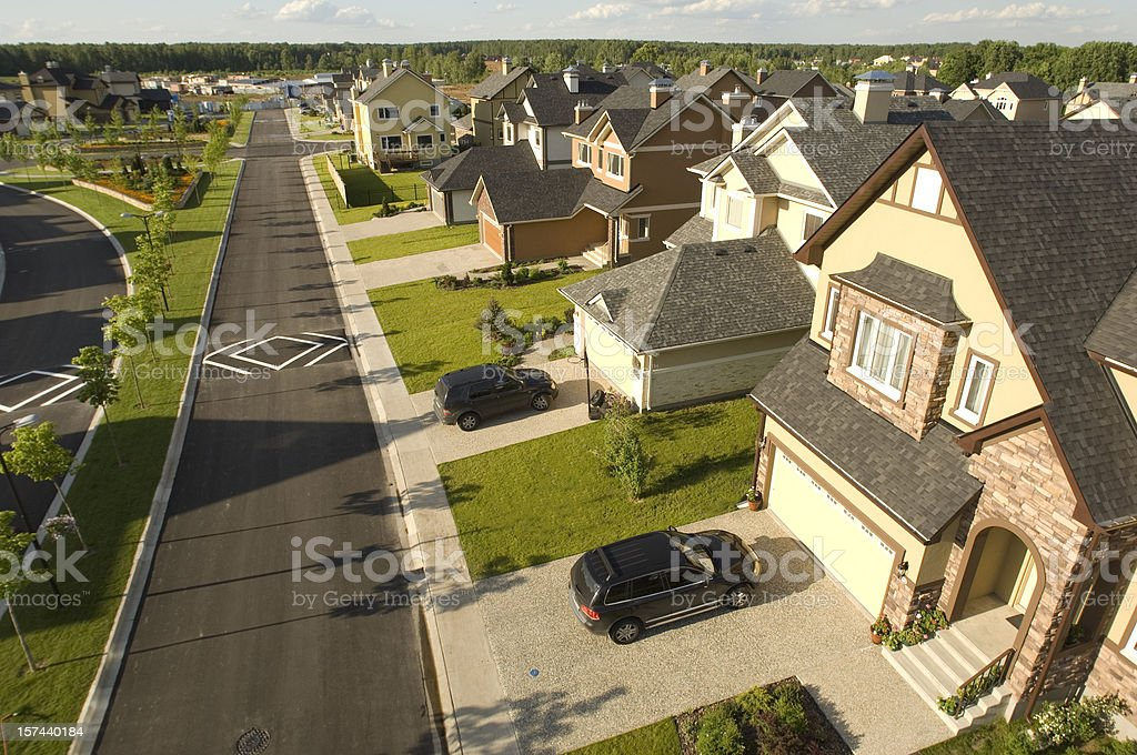 Suburban houses. stock photo