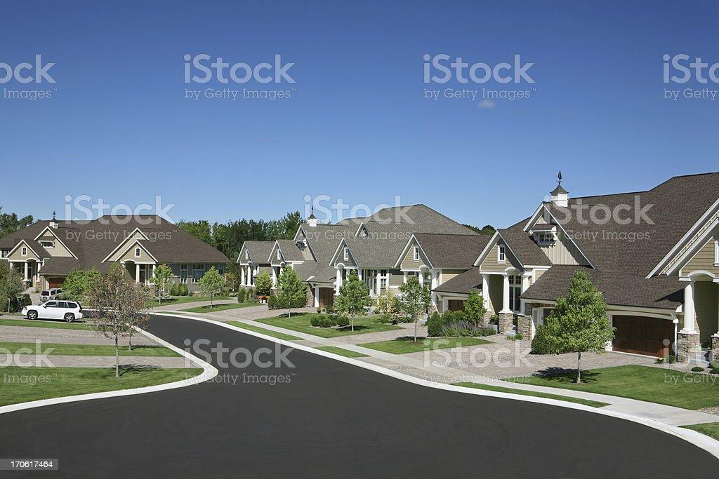 Suburban Houses stock photo
